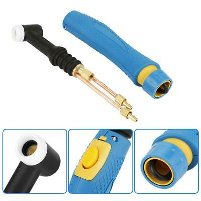 WP-18F TIG Welding Torch Head Body Flexible 350A Water-Cooled w/Switch Button wt