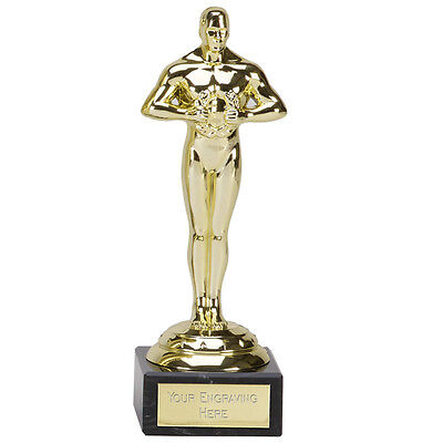 178mm Achievement Oscar Hollywood, Prom, Party Trophy, Award, FREE Engraving