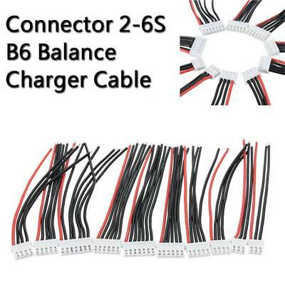 5PCS 2-6S Balance Battery Charger Silicone Cable Wire JST-XH Connector Adapter