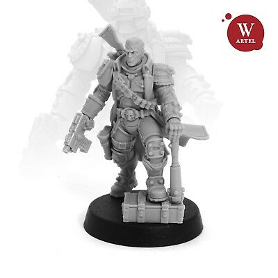 """28mm wargaming and collectible miniature, The Chastener 2.0 by Artel """"W"""""""