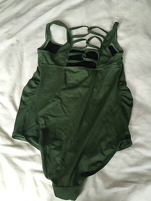 ladies green asos maternity swimming costume size 12