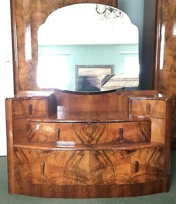 Art Deco Style Burr Walnut Dressing Table ** Timeless Trend Perring **