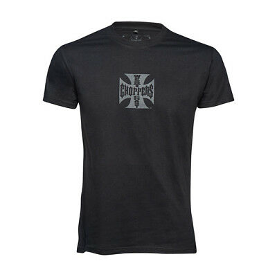 West Coast Choppers WCC Maltese Cross Short Sleeve T-shirt - Solid Black