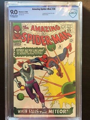 AMAZING SPIDER-MAN #36 CBCS VF/NM 9.0; OW-W; origin & 1st app. of the Looter!