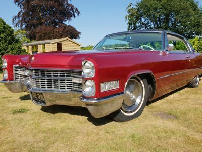 Cadillac Coupe deville 1966 candy cherry red