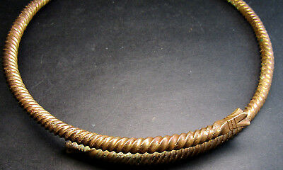 Ancient Viking Neck Torc Snake.Cleared.