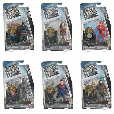 DC Comics Justice League 15cm Action Figures With Logo Plates And Accessories