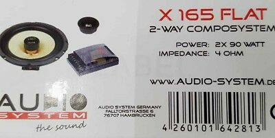 Audio System X 165 Flat 165 mm shallow woofer + crossover +tweeter NEW