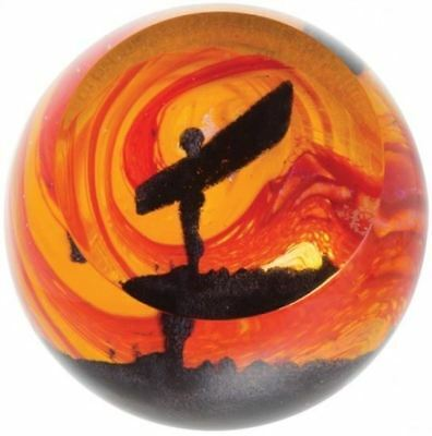 Caithness Glass paperweight Angel of the North Landmarks Golden Sunrise U18029