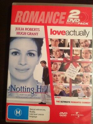 NOTTING HILL & LOVE ACTUALLY Double Feature Very Good Condition DVD  R4&2 PAL