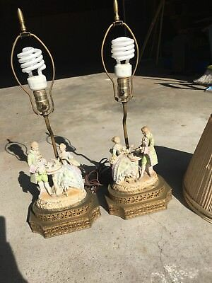 Pair Of Matching Andrea Made In Japan Ceramic Lamps