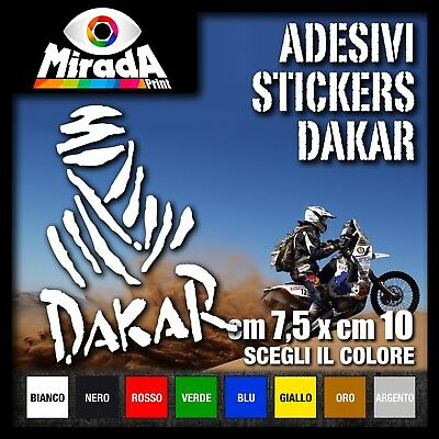 Decalcomania Dakar argento