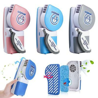 Mini USB Portable Rechargeable Hand Held Air Conditioner Cooler Fan