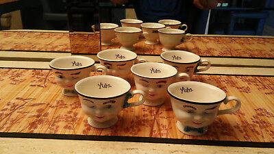 baileys yum cups, winking man and smiling lady multiple pairs.