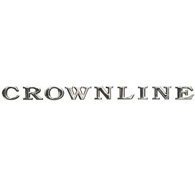 Crownline Boat Raised Decal 60824 | 24 x 1 3/4 Inch Silver Mirror
