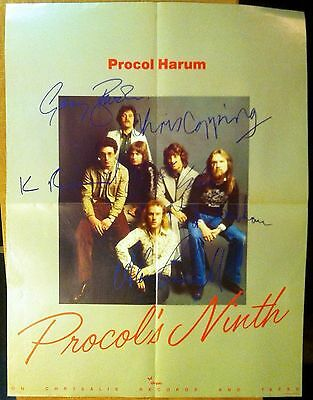 PROCOL HARUM PROCOL'S NINTH Chrysalis Records 1975 promo POSTER About 25x19 In