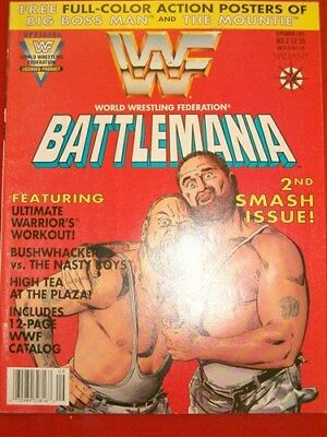 Wwf Battlemania 2 Valiant Magazine Comic Ultimate Warrior Uncirculated 1991 Nm
