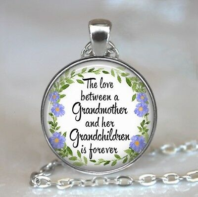 The Love Between a Grandmother and Her Grandchildren Is Forever Necklace,Gift
