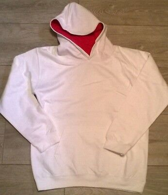 girls hoodie White with pink, Varsity style by designer AWDiS , NEW Age 5 6 9 11