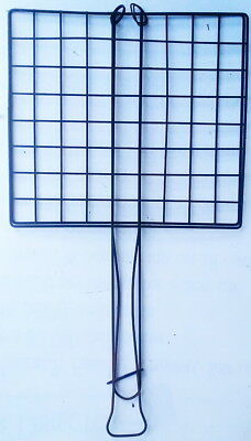 Antique Large Square Wire Camp Fire Toaster with Slide Lock