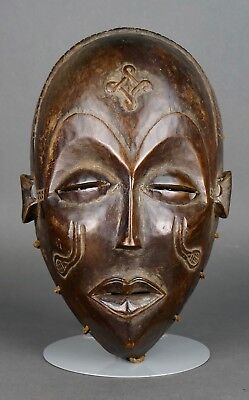 Antique 19th Century Hand Carved AFRICAN CEREMONIAL TRIBAL MASK Traditional Rare