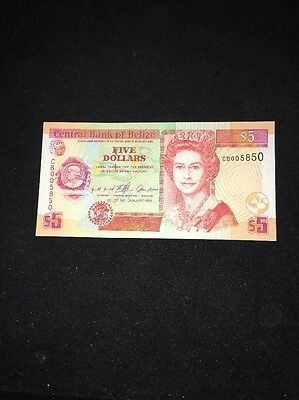 Central Bank Of Belize $5 Banknote 1999 P61a