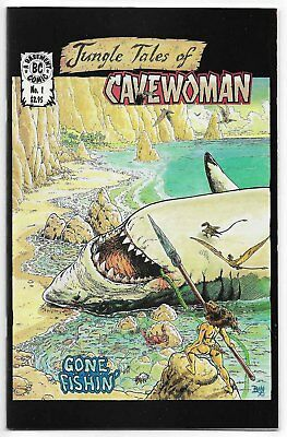 Jungle Tales Of Cavewoman #1 (1998, Basement Comics) Bud Root Cover & Art