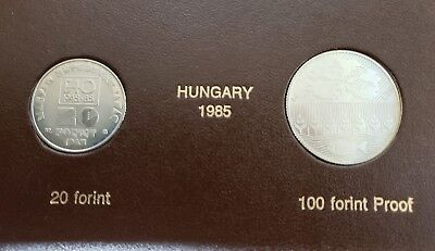 Set Of 2 Hungary 1985 F.A.O. Coin Collection