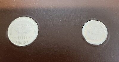 Set Of 2 Hungary 1984 F.A.O. Proof Coins