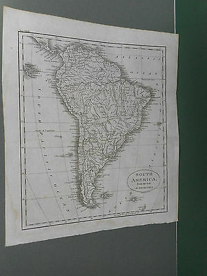 100% Original South America  Map By Guthrie C1806 Vgc
