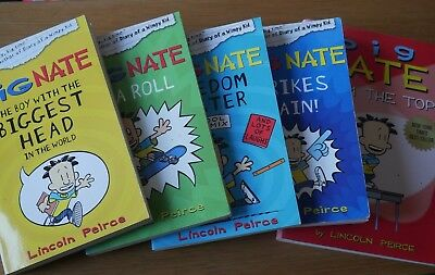 Big Nate by Lincoln Peirce, four titles from the series, paperback