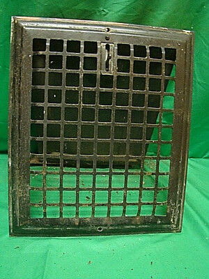 Vintage 1920S Iron Heating Grate Square Design 13.75 X 11.75