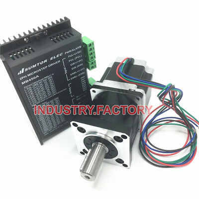 2ph Nema23 3Nm Stepper Motor Driver & 5:1 Planetary Geared Reducer 4.2A 24V CNC