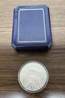 Hungary 1996 2000 Forint Silver Coin W/ Box & No C.O.A.
