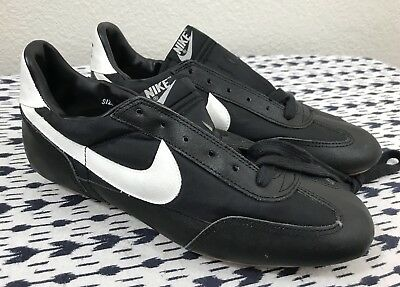 Nos Deadstock 1982 Vintage Nike Black White Soccer Cleats Sz 9 World Cup