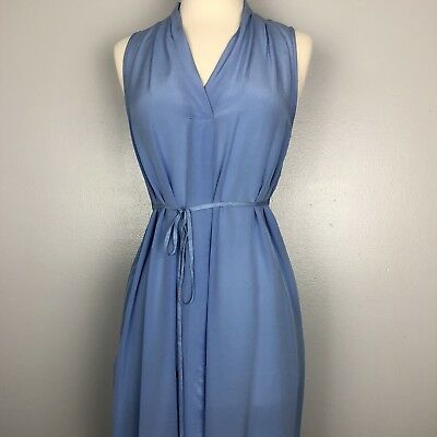 A Pea In The Pod Sheer Maternity Dress Blue Unlined Size S