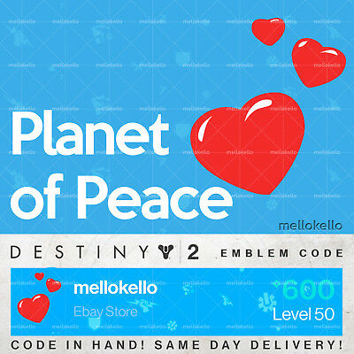Destiny 2 Planet of Peace Emblem!! SAME DAY DELIVERY!!