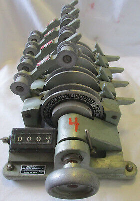4 GANG Equipment 16MM FILM SYNCHRONIZER W/ COUNTER