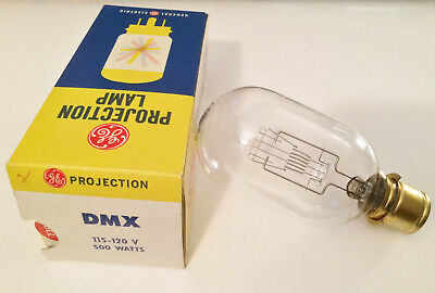 DMX General Electric GE Projector Lamp 500W 115-120V Bulb NEW NOS  FREE SHIPPING