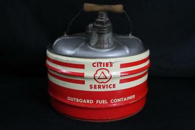 2.5 Gal Cities Service Outboard Motor Oil Gas Can Sign