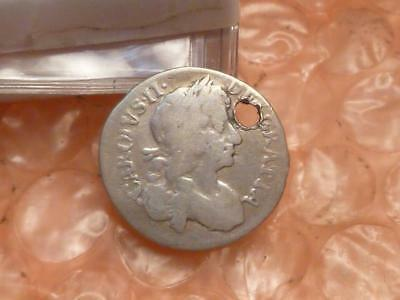 Charles II 1679 Silver Colonial Maundy Fourpence Coin #2