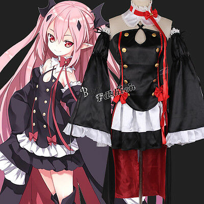 Cosplay 2018 Costume Anime Seraph of the End Krul Tepes Sexy Fancy Costumes S-XL