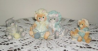 CALICO KITTENS, FINICKY and PLAYFUL FIGURINES by ENESCO