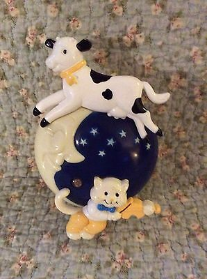 Avon Hey Diddle Diddle Mother Goose Collect Nightlight Nite Lite 1992 Free Ship