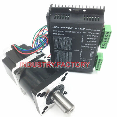2phase Nema23 Stepper Motor Driver 425oz-in + Planetary Gearbox 4.2A CNC Router