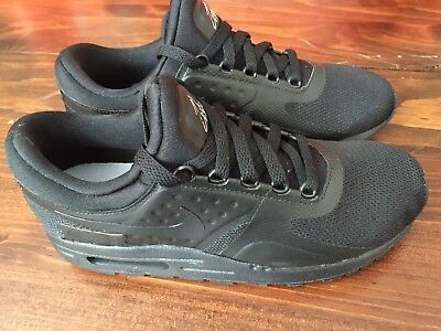NIKE AIR MAX ZERO ESSENTIAL GS TRIPLE BLACK 881224 006