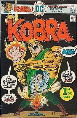 Dc Comics - Kobra #1 Feb/mar 1976 - 1St Dc Issue-Twin Brothers One Good One Evil