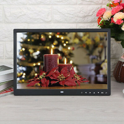 "Widescreen 15"" HD Digital Photo Frame Picture Video Player +Remote 12V 6 IN 1 UK"
