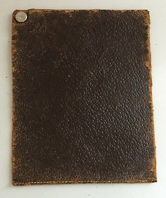 Antique Vintage Leather Billfold Wallet Pouch Bifold File Money Document Holder