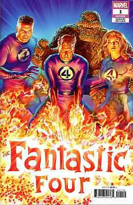 Fantastic Four 1 2018 Alex Ross 1:50 Incentive Variant Nm